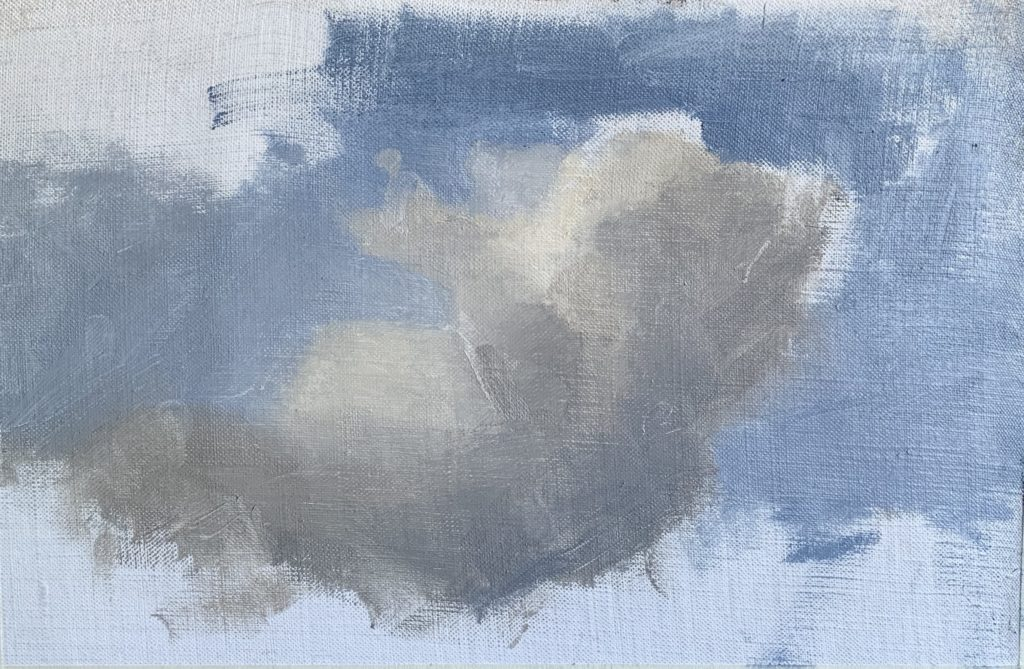 Process image of how to paint clouds step 9