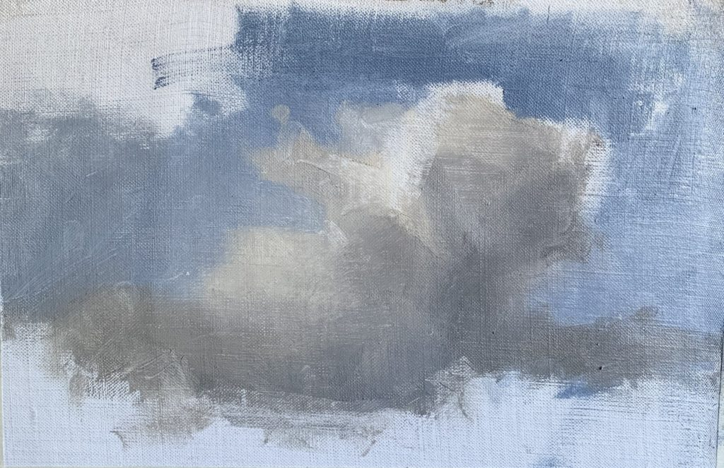 Process image of how to paint clouds step 10