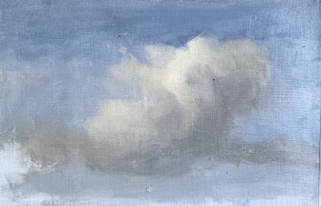 Process image of how to paint clouds step 12