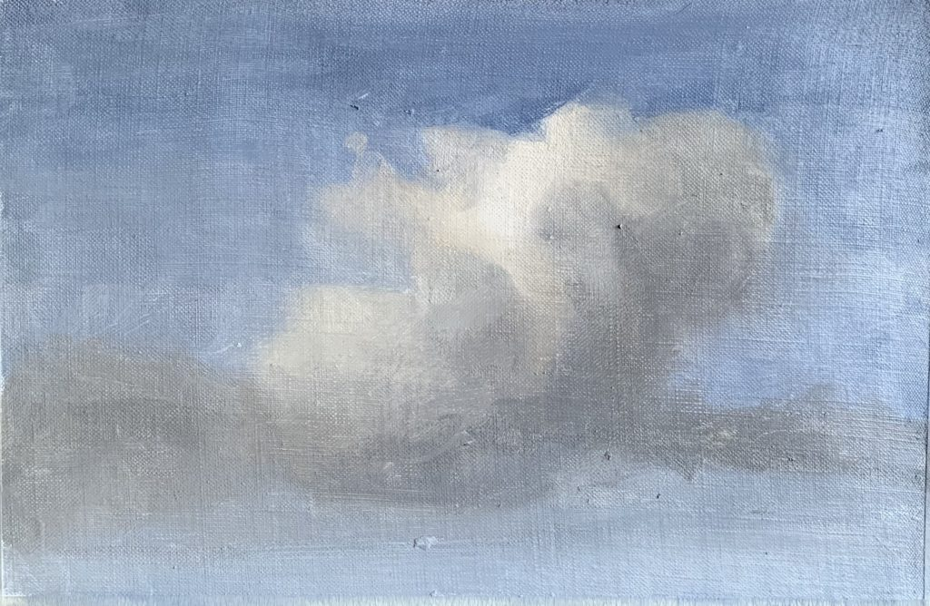 Process image of how to paint clouds step 13