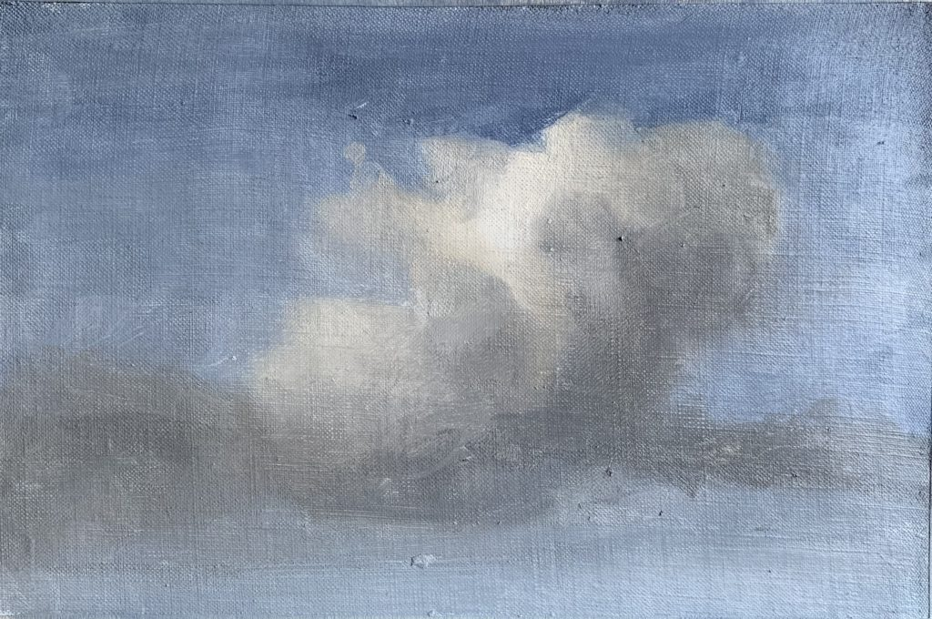 Process image of how to paint clouds step 14