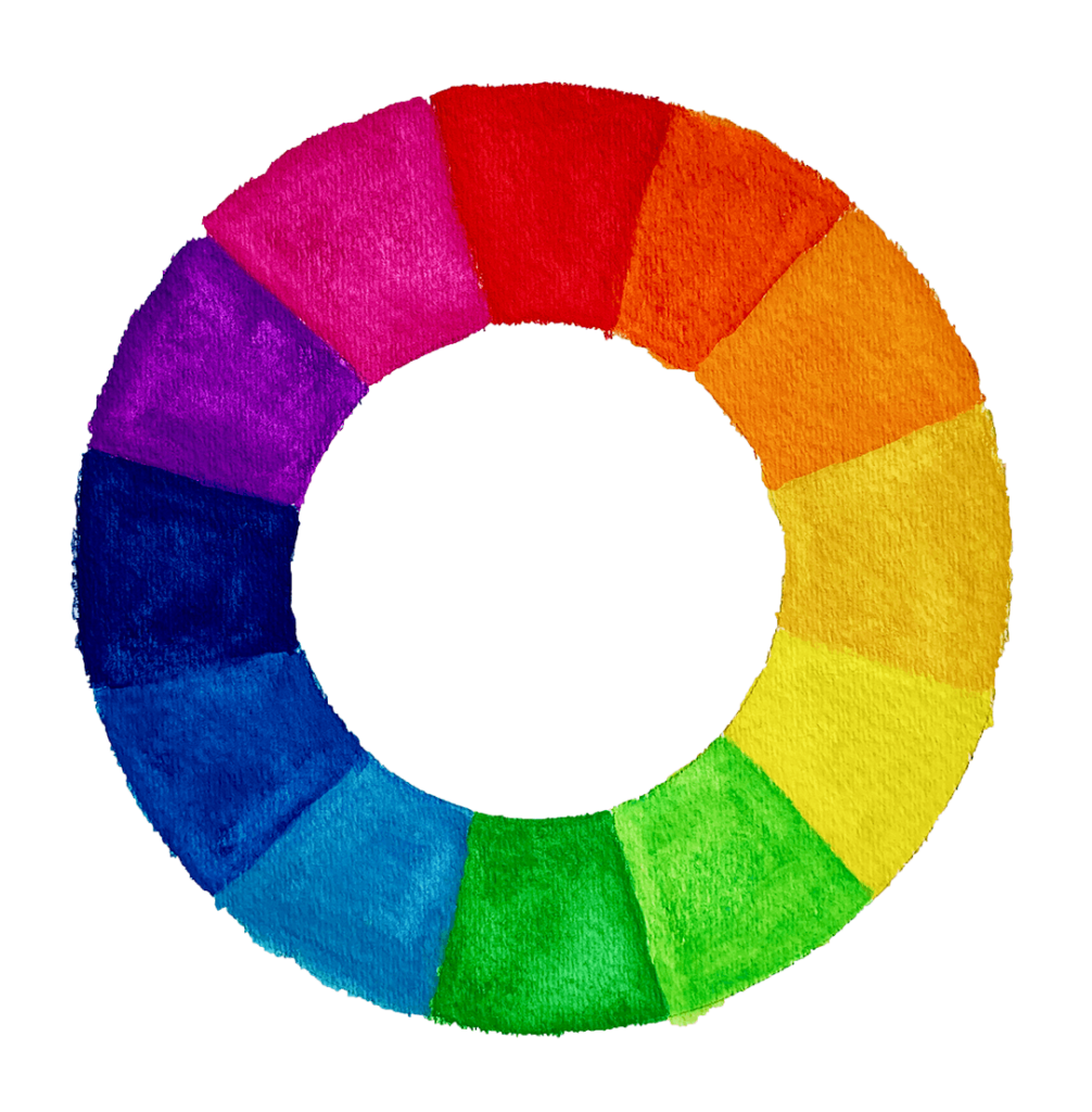 Color wheel displaying various colors that make up the spectrum