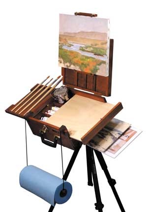 ultimate easel guide, sienna pochade box