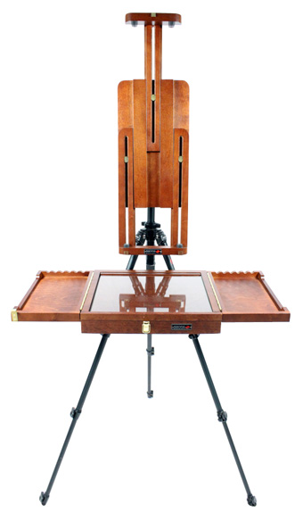 ultimate guide to easels. tripod with palete box and canvas holder. Sienna easels
