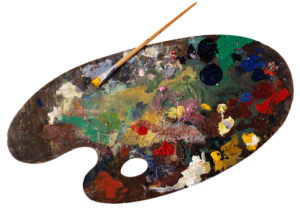 wood or glass palette for oil painting