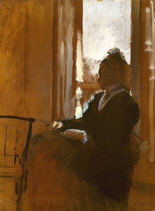 Edgar Degas, woman at a window