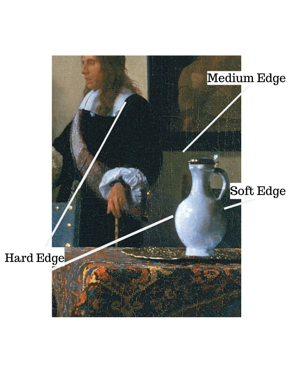 edges in painting, vermeer