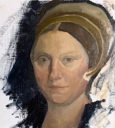 oil painting portrait tutorial, hans holbein master copy