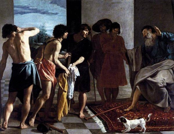 velazquez painting technique, Josephs Coat brought to Jacob