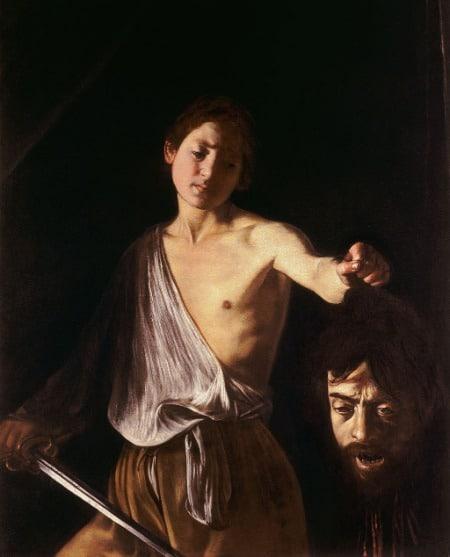 Caravaggio, David and Goliath