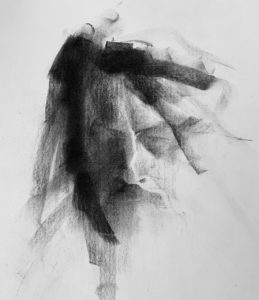 tonal value drawing, Elisabeth Larson Koehler