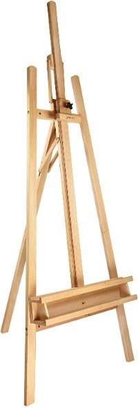 A frame easel, Lyre easel