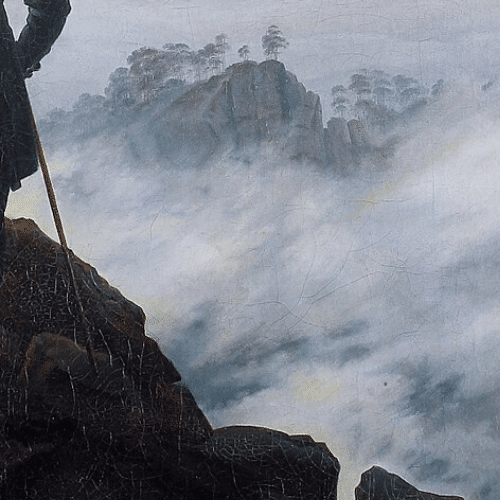 Caspar David Friedrich, how to paint mist and fog, Learn how to paint transient effects. How to oil paint mist and fog. Oil painting tutorial. Oil painting for beginners