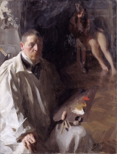 Anders Zorn, Self portrait with model