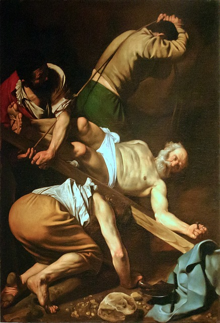 The Crucifixion of Saint Peter, all about the life and work of Caravaggio