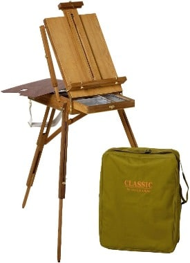 French easel perfect for plein air painting. Jullian easel