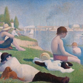 George Seurat, Bathers at Asnieres, High keyed painting