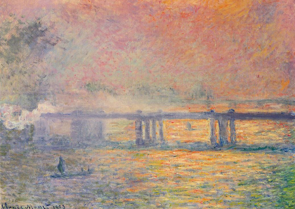 Claude Monet warm and cool colors