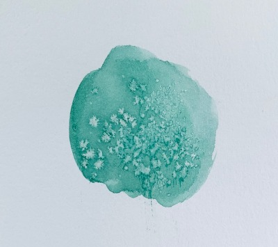 use salt to create texture with watercolors, watercolor tips