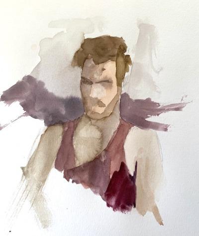 matthew at his Mac, Elisabeth Larson Koehler, Watercolor tips for beginners
