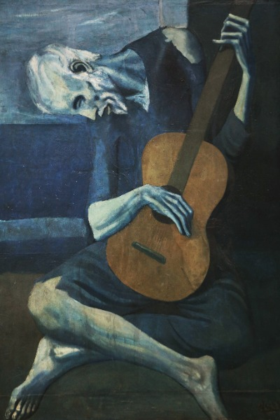 Pablo picasso painting full of shades of blue