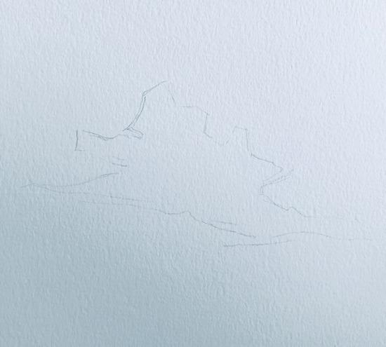 cloud pencil sketch