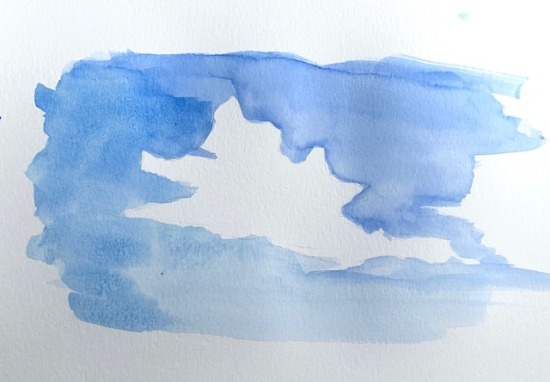 beginning watercolor cloud painting. how to paint clouds in watercolor