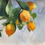 Watercolor Painting Tutorial - Step by Step Painting Lemons