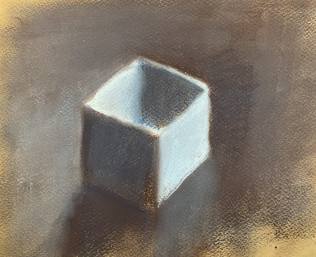 box on paper, Warm cool limited palette
