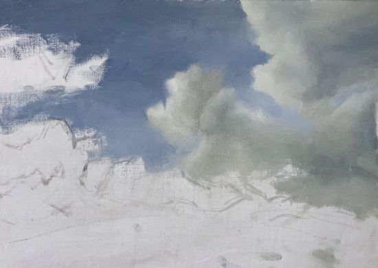 Adding clouds in a cloud painting