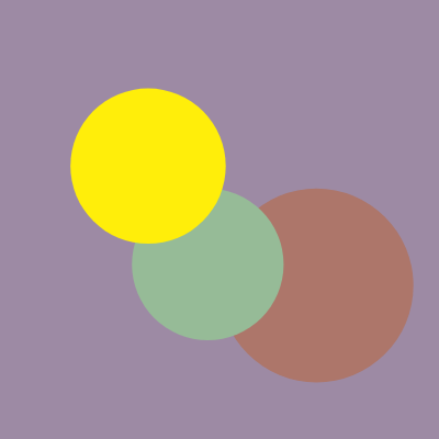 muted color vs saturated colors diagram