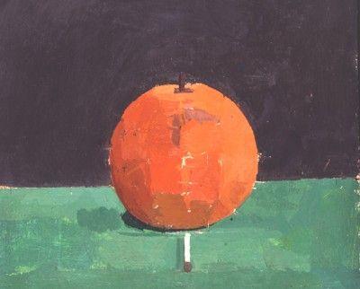 Orange Painting by Euan Uglow