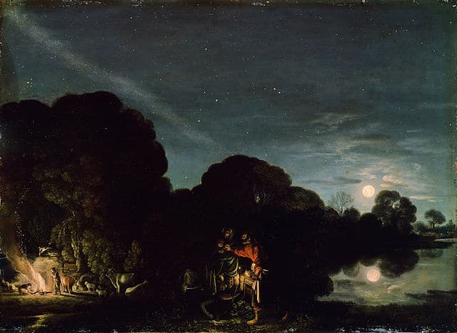 Adam Elsheimer. Flight into Egypt