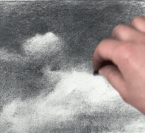 creating sharp lines in a cloud drawing