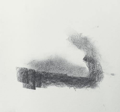 Draw sky around a cloud