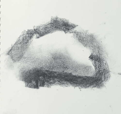 How to draw a silhouette on a cloud