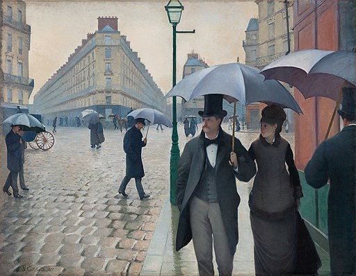 Gustave Caillebotte, Two point Perspective drawing and painting