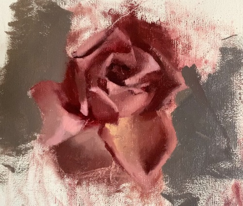 painting background of rose painting