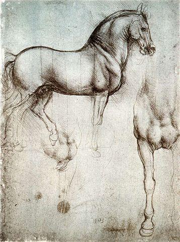 Image of Leonardo da Vinci's drawing of, The Horse