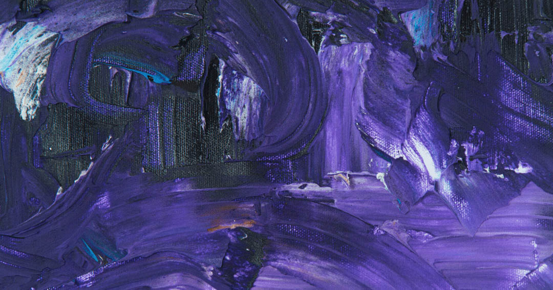 Shades of purple paint on a canvas