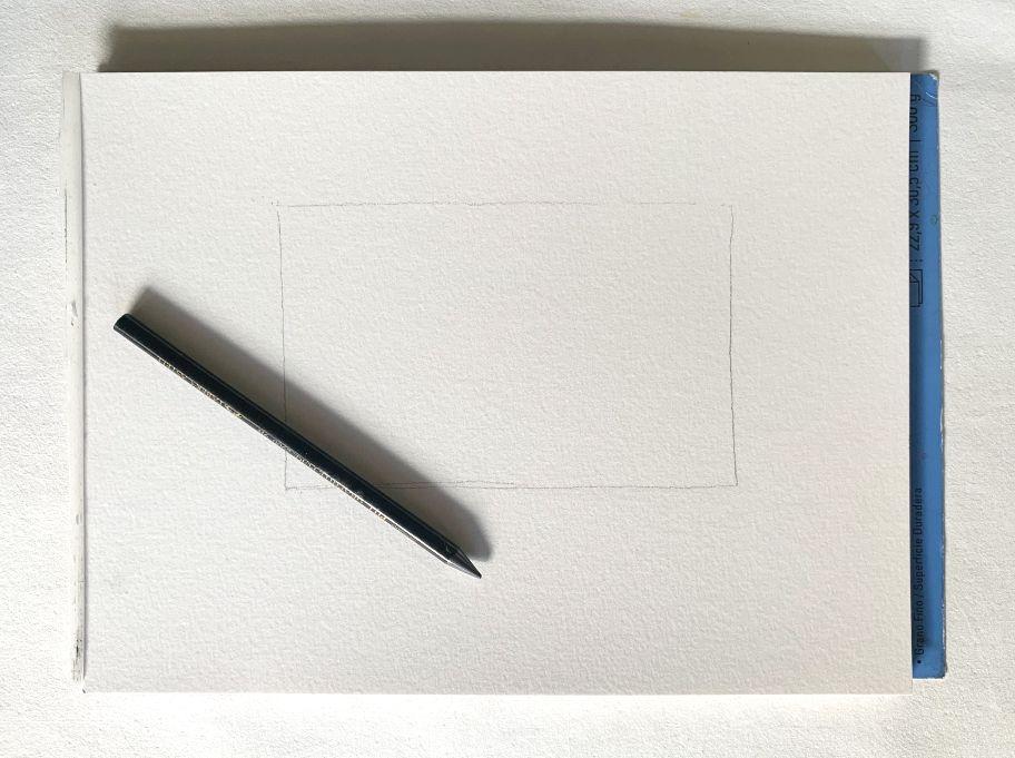 preparing a watercolor painting