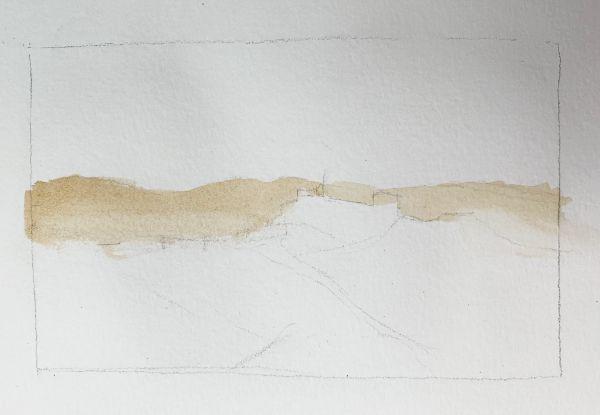 landscape hill painting