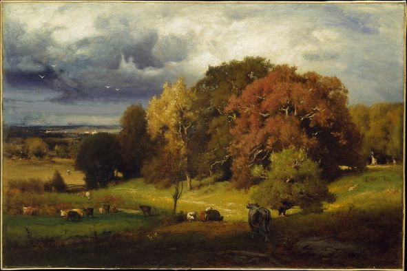 Autumn Oaks, George Inness fall landscape painting idea