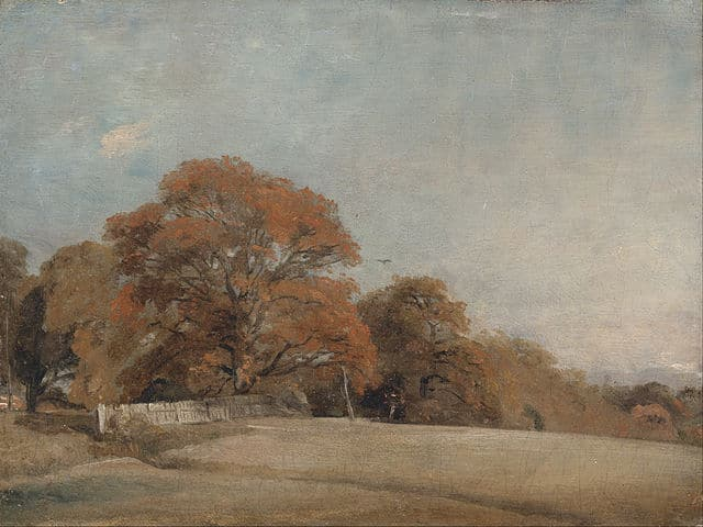 cold fall day landscape painting, John constable