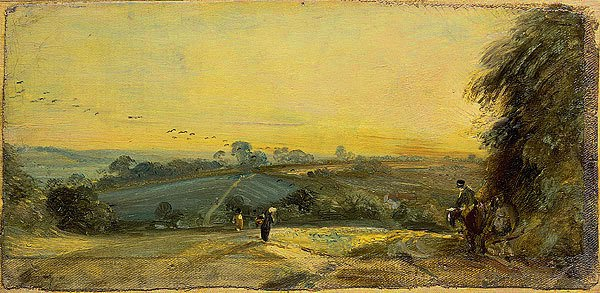 John Constable, Autumn Sunset painting