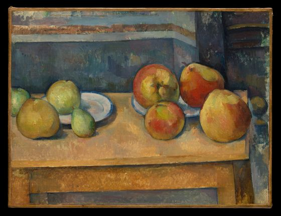 Paul Cezanne, Fall Still Life painting of apples on a table