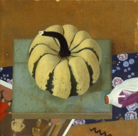 fall painting of a winter squash