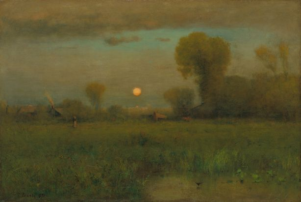 Harvest Moon, George Inness, Fall landscape painting