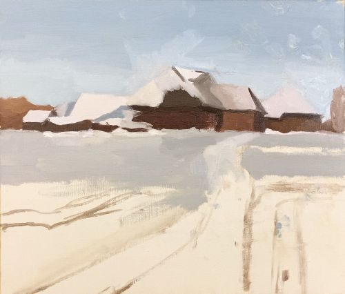 Painting a snowy pathway