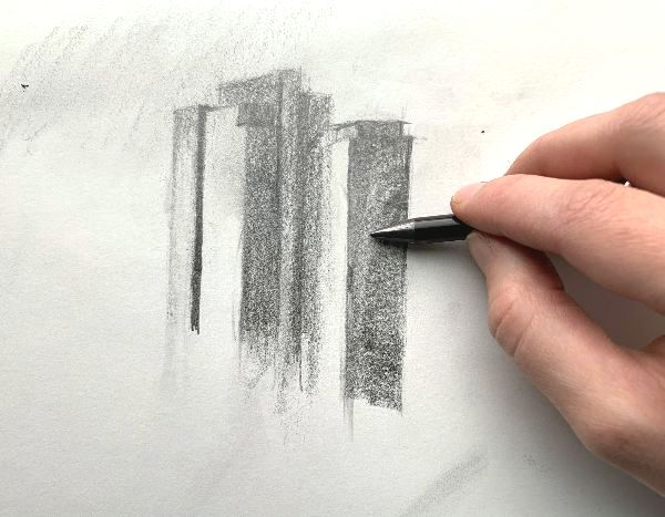 drawing with woodless artist pencil